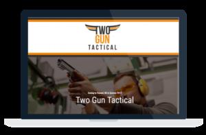 two gun tactical website design and development flowood brandon jackson ms