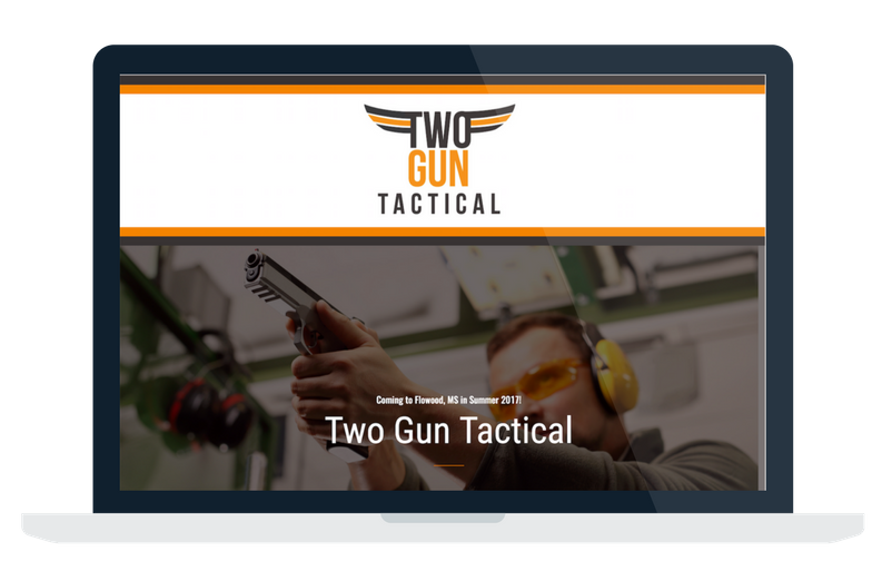 two gun tactical website design and development flowood brandon jackson ms