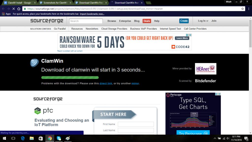 clamwin antivirus removal slow computer