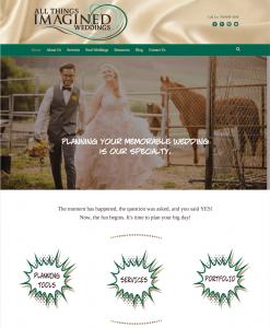 wedding planner website design portfolio